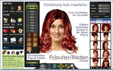 frisuren testen laden sie ihr foto virtuelle